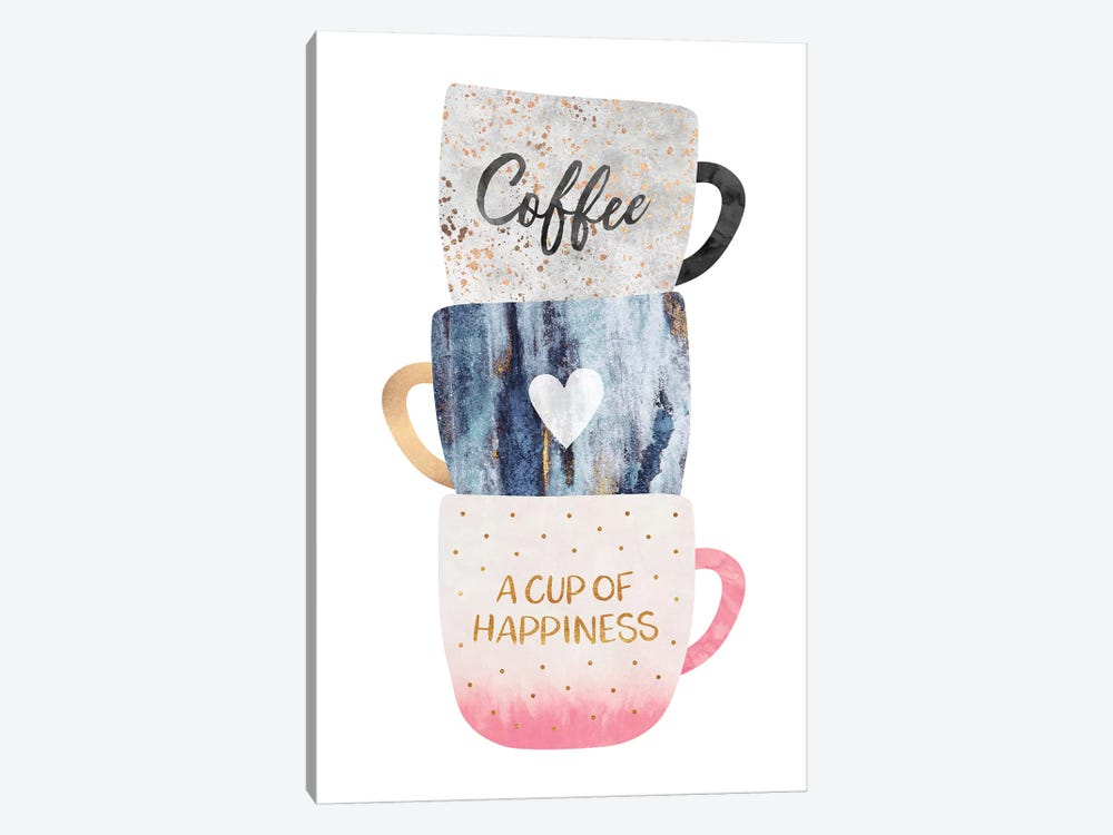 A Cup Of Happiness by Elisabeth Fredriksson 1-piece Canvas Art Print