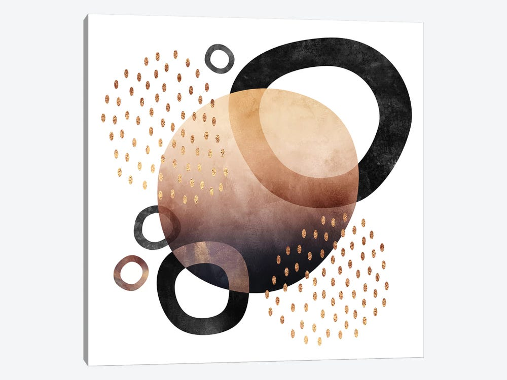 Abstract Graphic 1 by Elisabeth Fredriksson 1-piece Canvas Artwork