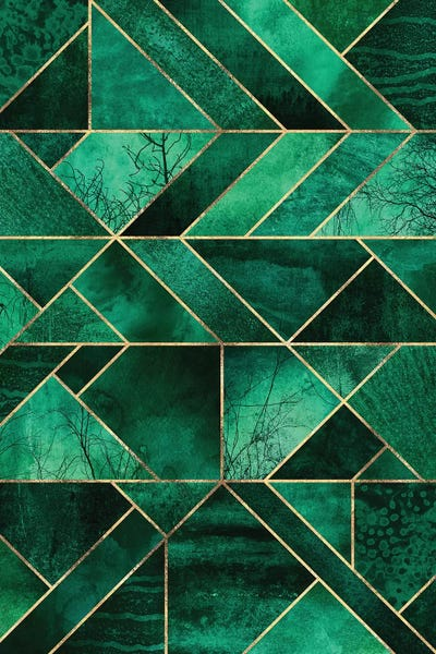 Abstract Nature Emerald Green Canvas Elisabeth