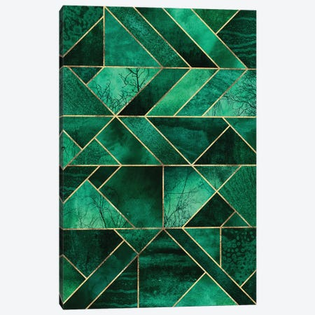 Abstract Nature - Emerald Green Canvas Print #ELF229} by Elisabeth Fredriksson Art Print