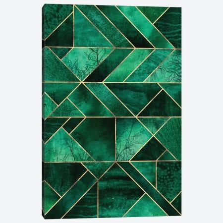 Abstract Nature - Emerald Green Canvas Print #ELF229} by Elisabeth Fredriksson Art Print
