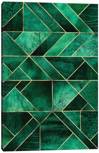 Abstract Nature - Emerald Green Canvas Art Print