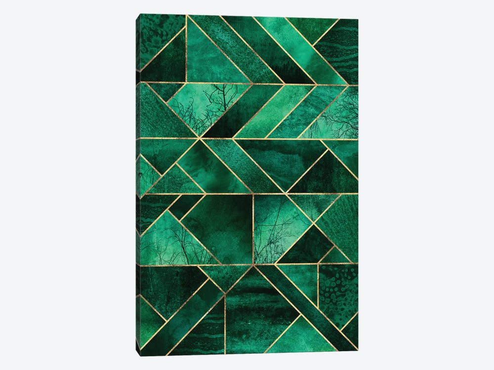 Abstract Nature - Emerald Green by Elisabeth Fredriksson 1-piece Canvas Print