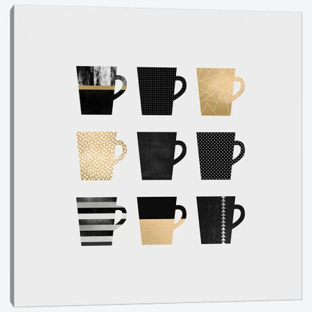 Coffee Mugs Canvas Print #ELF22} by Elisabeth Fredriksson Canvas Print