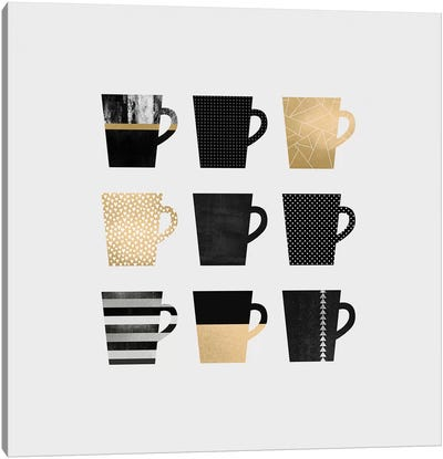 Coffee Mugs Canvas Art Print