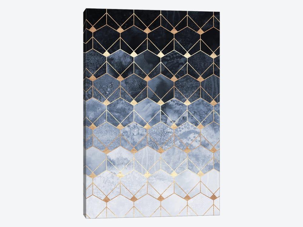 Blue Hexagons And Diamonds by Elisabeth Fredriksson 1-piece Canvas Art Print