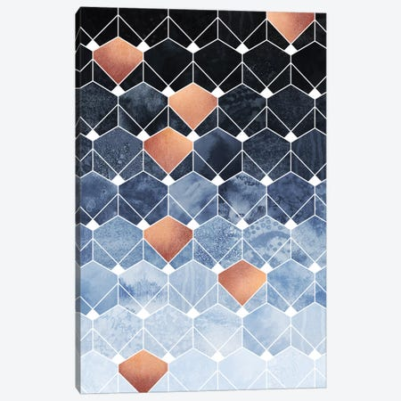 Copper Diamonds, Rectangular Canvas Print #ELF232} by Elisabeth Fredriksson Canvas Wall Art