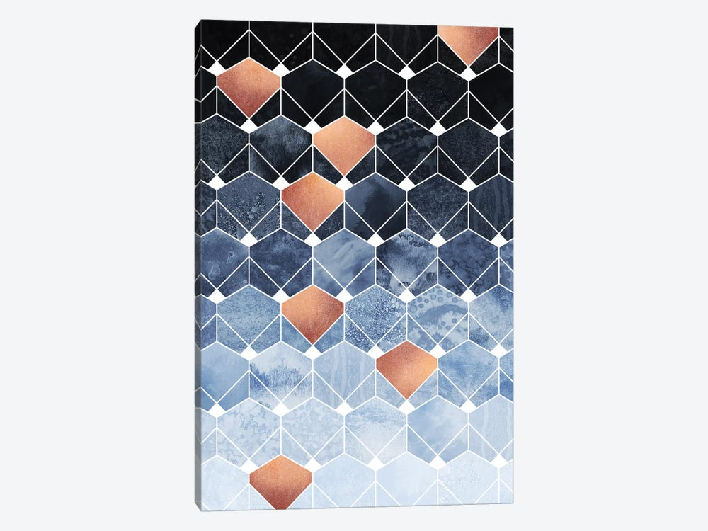 Copper Diamonds, Rectangular 1-piece Art Print