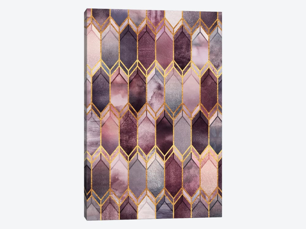 Dreamy Stained Glass by Elisabeth Fredriksson 1-piece Canvas Wall Art