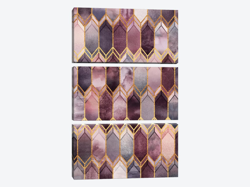 Dreamy Stained Glass by Elisabeth Fredriksson 3-piece Canvas Art