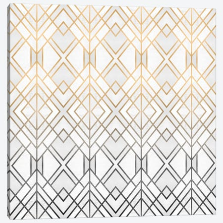 Gold And Grey Geo Canvas Print #ELF239} by Elisabeth Fredriksson Canvas Art