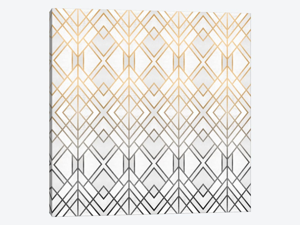 Gold And Grey Geo 1-piece Canvas Art