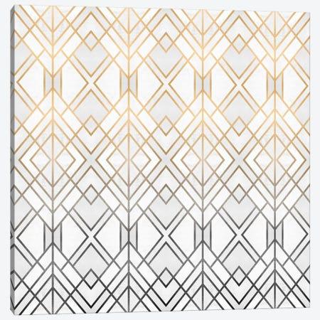 Gold And Grey Geo Canvas Print #ELF239} by Elisabeth Fredriksson Canvas Art