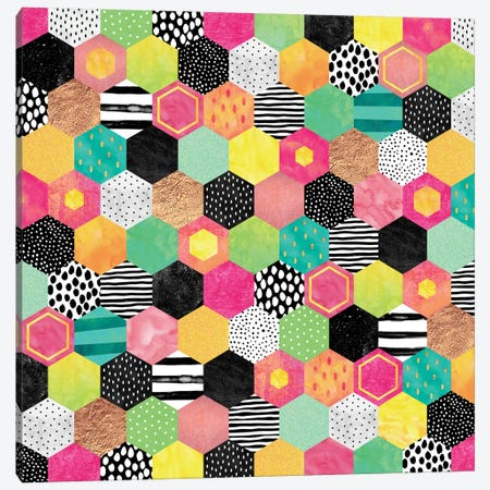 Color Hive Canvas Print #ELF23} by Elisabeth Fredriksson Art Print
