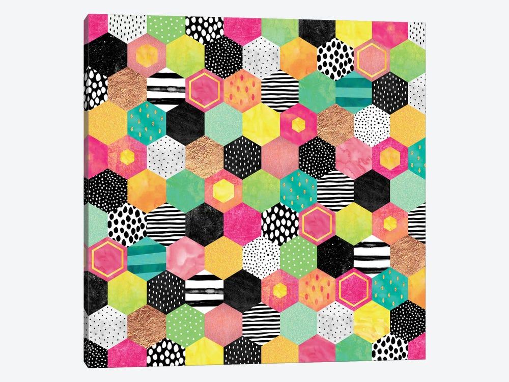 Color Hive by Elisabeth Fredriksson 1-piece Canvas Artwork