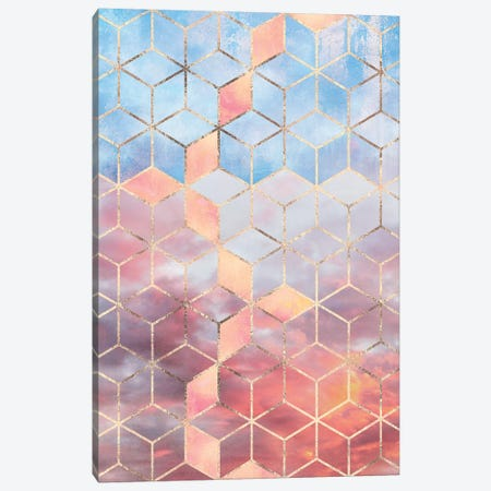 Magic Sky Cubes Canvas Print #ELF242} by Elisabeth Fredriksson Canvas Art Print