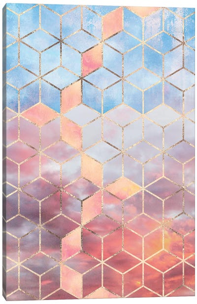 Magic Sky Cubes Canvas Art Print