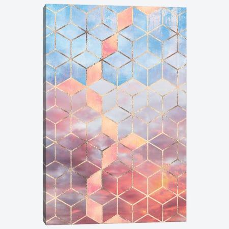Magic Sky Cubes Canvas Print #ELF242} by Elisabeth Fredriksson Canvas Art Print