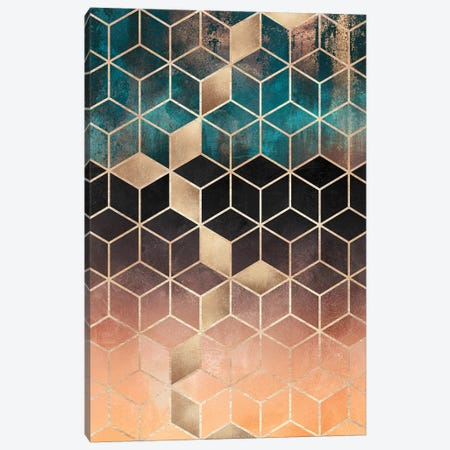 Ombre Dream Cubes, Rectangular Canvas Print #ELF243} by Elisabeth Fredriksson Canvas Art Print