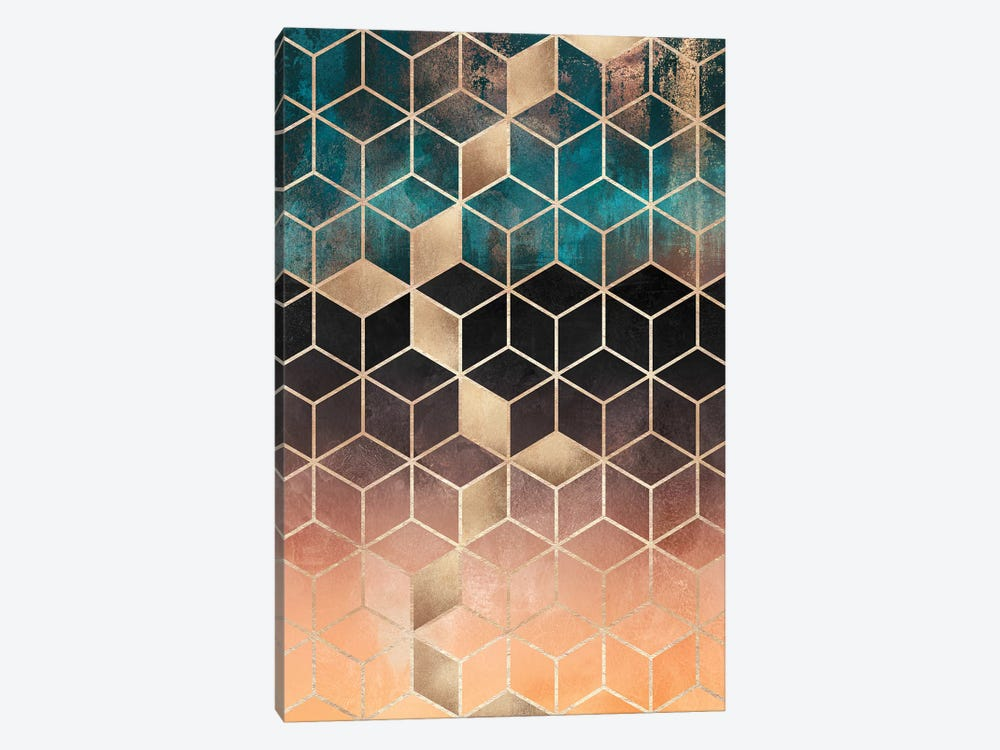 Ombre Dream Cubes, Rectangular by Elisabeth Fredriksson 1-piece Art Print