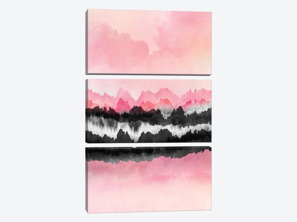Pink Mountains by Elisabeth Fredriksson 3-piece Canvas Art Print