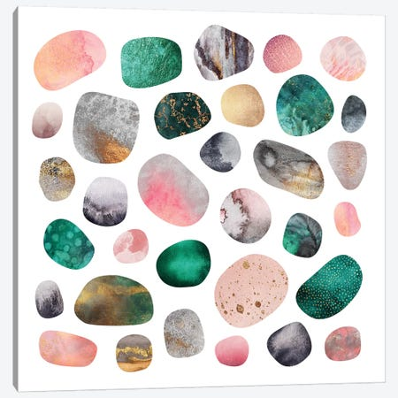 Pretty Pebbles Canvas Print #ELF246} by Elisabeth Fredriksson Canvas Wall Art