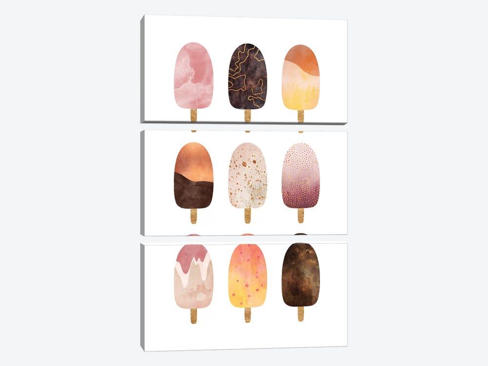 Pretty Popsicles by Elisabeth Fredriksson 3-piece Canvas Print