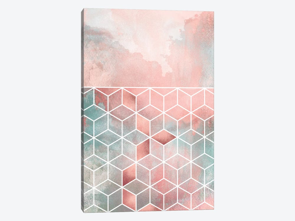 Rose Clouds And Cubes by Elisabeth Fredriksson 1-piece Canvas Print