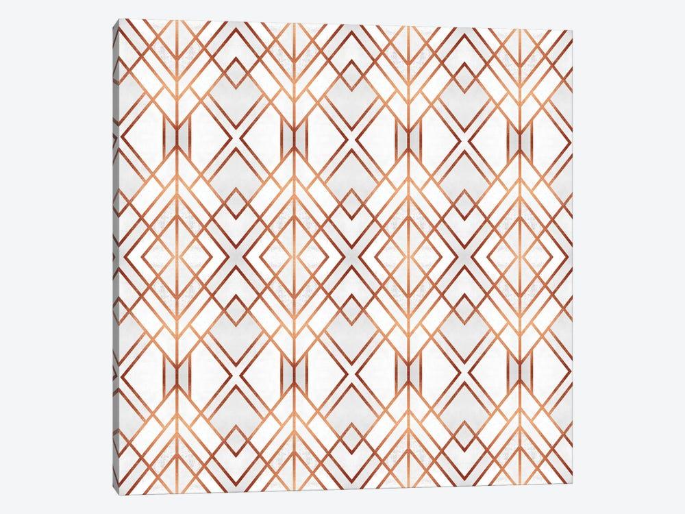 Copper Geo by Elisabeth Fredriksson 1-piece Art Print