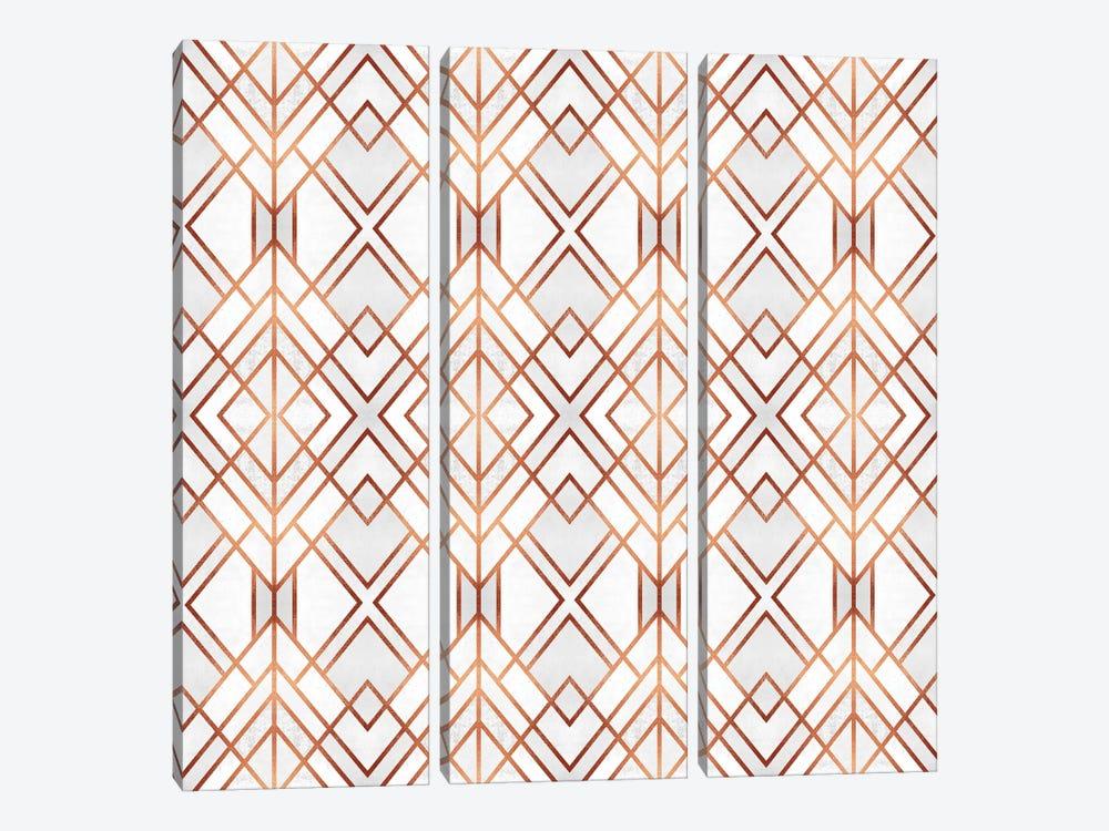 Copper Geo by Elisabeth Fredriksson 3-piece Canvas Art Print