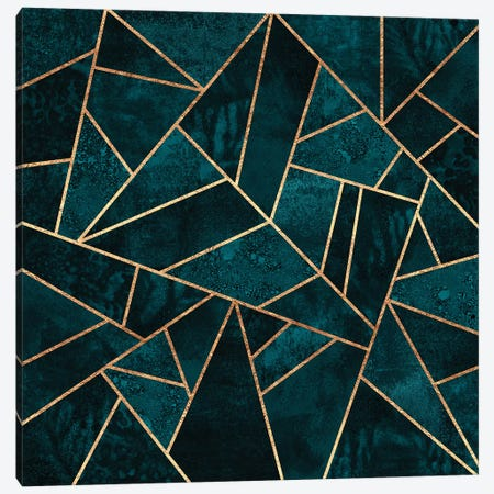 Deep Teal Stone Canvas Print #ELF255} by Elisabeth Fredriksson Art Print