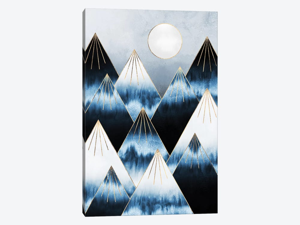 Frost Mountains by Elisabeth Fredriksson 1-piece Canvas Art Print
