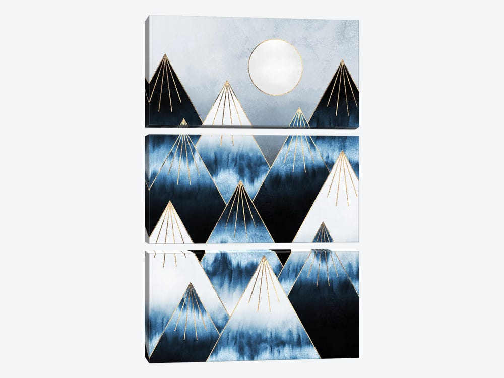 Frost Mountains by Elisabeth Fredriksson 3-piece Canvas Art Print