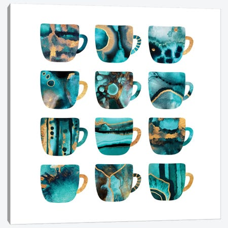 My Favorite Coffee Cups Canvas Print #ELF258} by Elisabeth Fredriksson Canvas Artwork