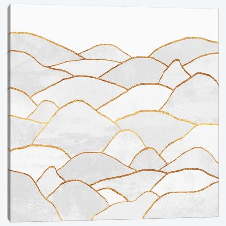 White Hills Canvas Print #ELF259} by Elisabeth Fredriksson Canvas Artwork
