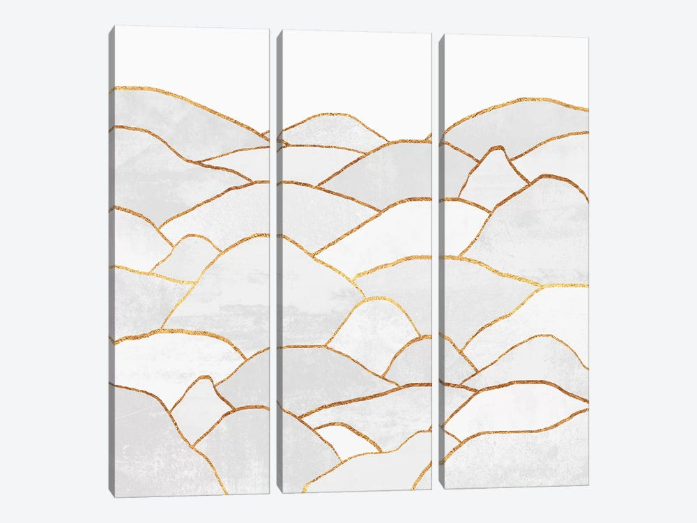 White Hills by Elisabeth Fredriksson 3-piece Canvas Wall Art