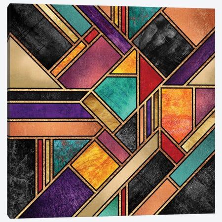 Colorful City Night Canvas Print #ELF25} by Elisabeth Fredriksson Canvas Artwork