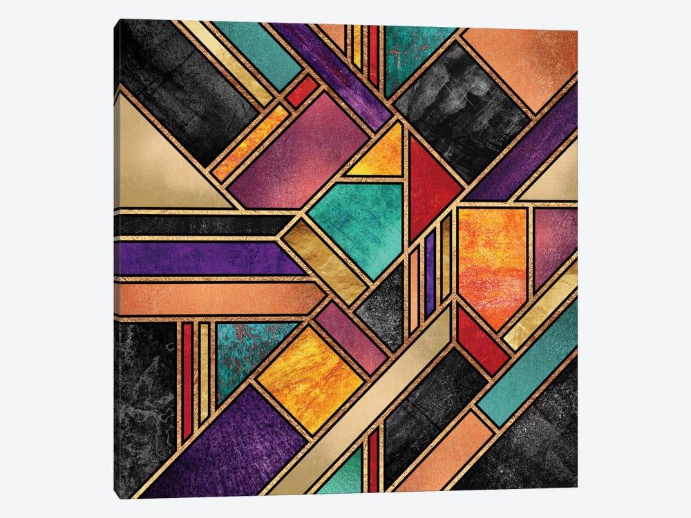 Colorful City Night by Elisabeth Fredriksson 1-piece Canvas Artwork