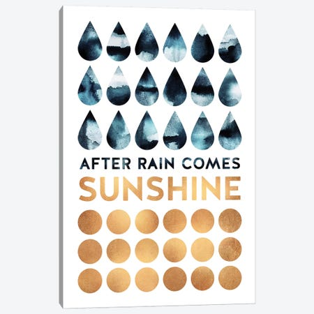After Rain Comes Sunshine Canvas Print #ELF261} by Elisabeth Fredriksson Art Print