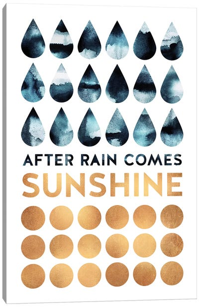 After Rain Comes Sunshine Canvas Art Print