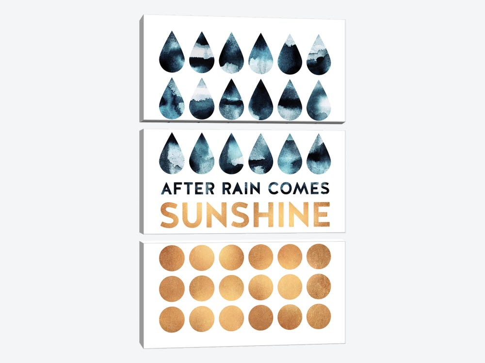 After Rain Comes Sunshine by Elisabeth Fredriksson 3-piece Canvas Art Print