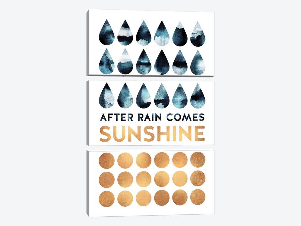 After Rain Comes Sunshine by Elisabeth Fredriksson 3-piece Canvas Art Print