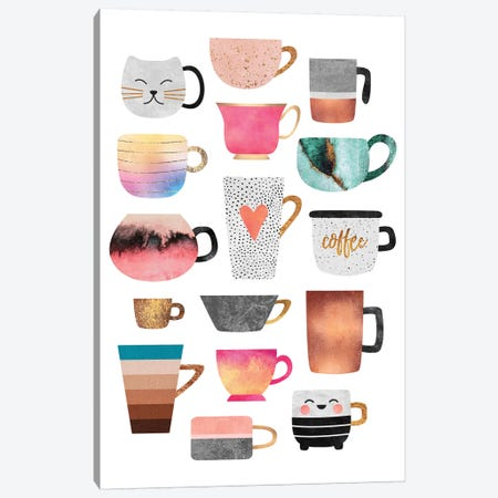 Coffee Cup Collection Canvas Print #ELF263} by Elisabeth Fredriksson Art Print