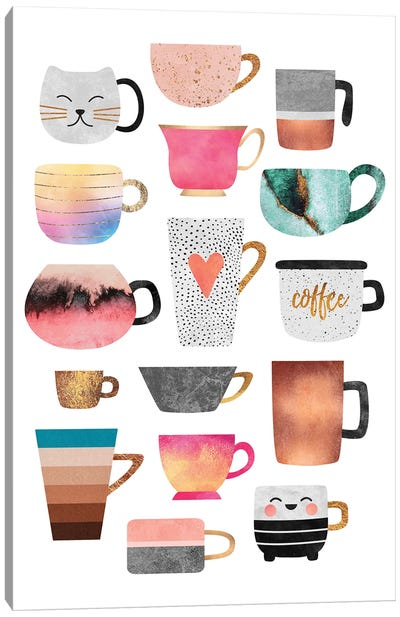 Coffee Cup Collection Canvas Art Print