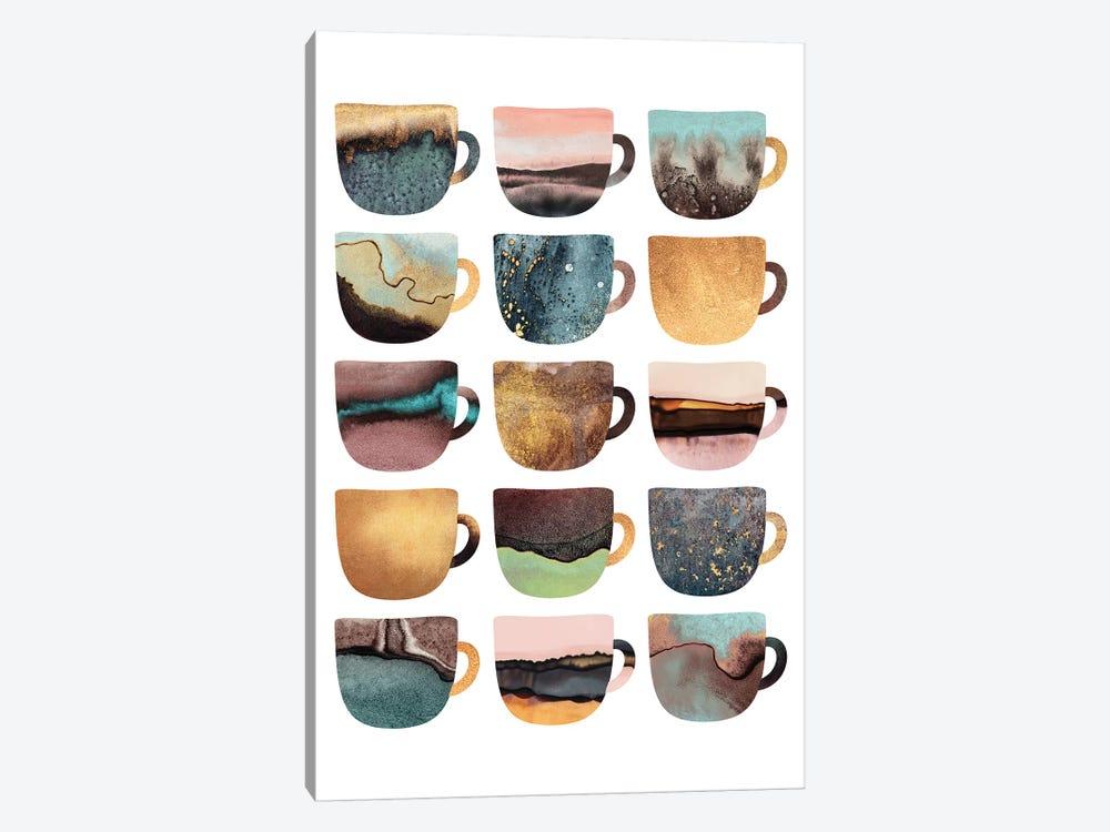 Earthy Coffee Cups by Elisabeth Fredriksson 1-piece Canvas Artwork