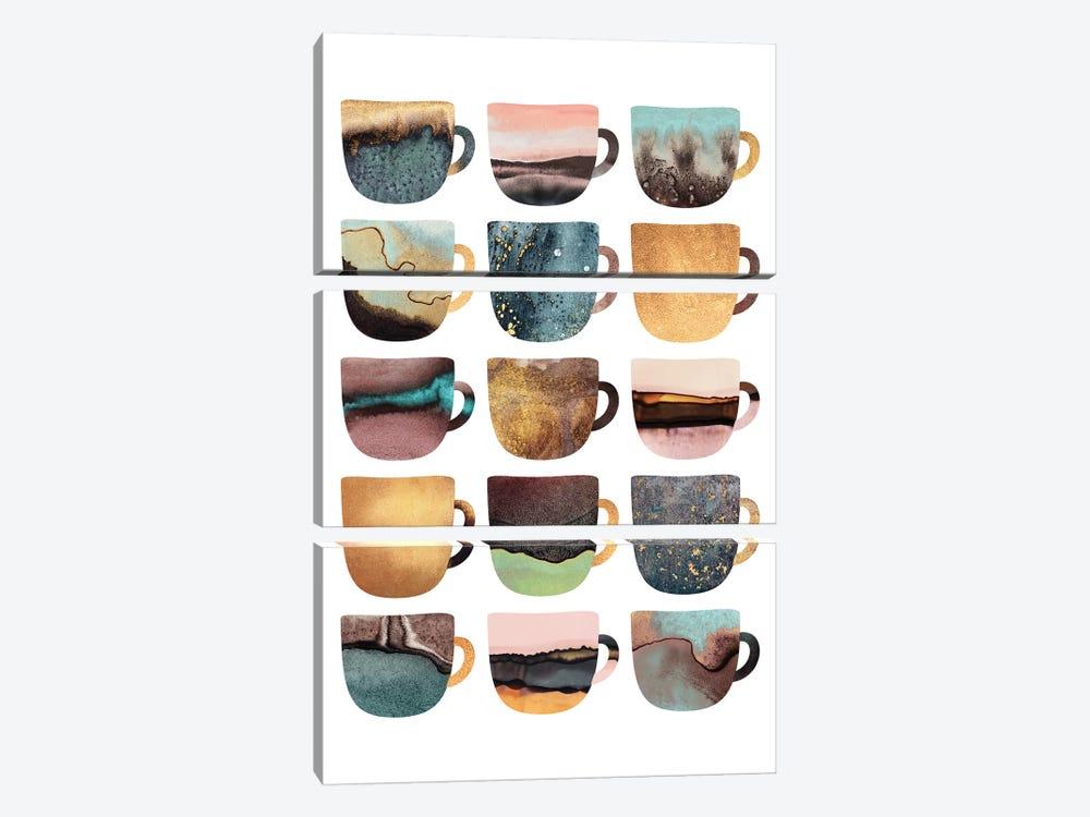 Earthy Coffee Cups by Elisabeth Fredriksson 3-piece Canvas Artwork
