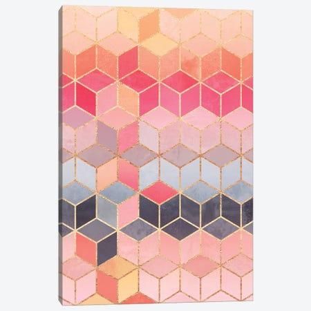 Happy Cubes Canvas Print #ELF266} by Elisabeth Fredriksson Canvas Artwork
