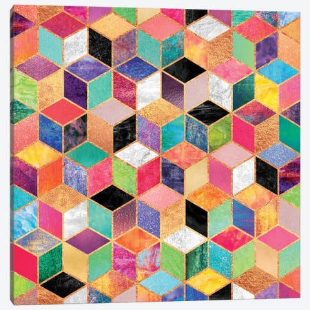 Colorful Cubes Canvas Print #ELF26} by Elisabeth Fredriksson Canvas Wall Art