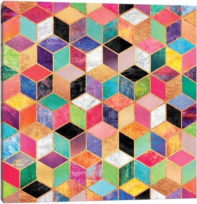 Colorful Cubes Canvas Art Print