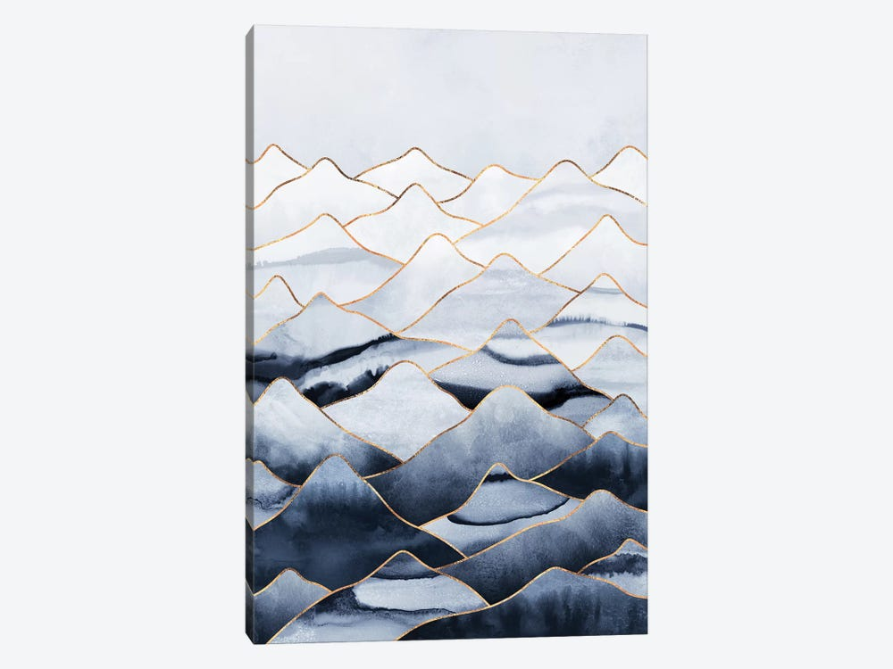 Mountains I by Elisabeth Fredriksson 1-piece Canvas Art Print